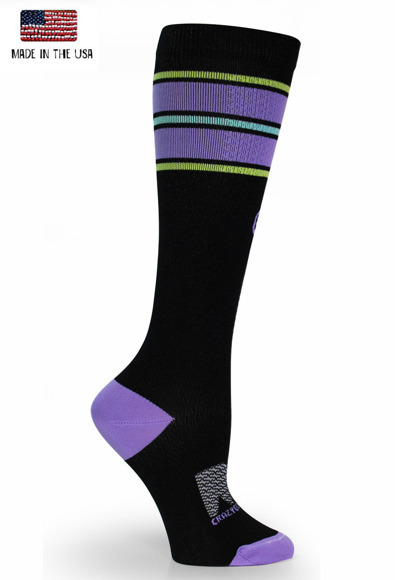 "All Star Stripes ""BLACK"" - CrazyCompression.com"