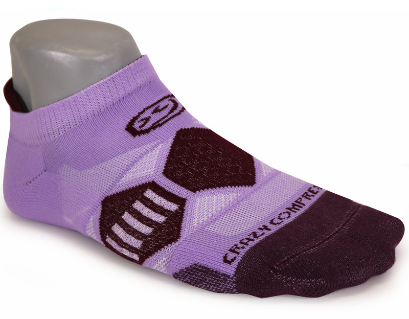 Lilac & Plums - Elite Running Socks - CrazyCompression.com