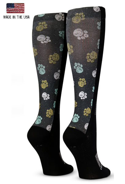 Black Sleeves Mint Flowers