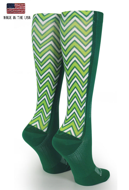 Green OTC Lucky Chevron - CrazyCompression.com