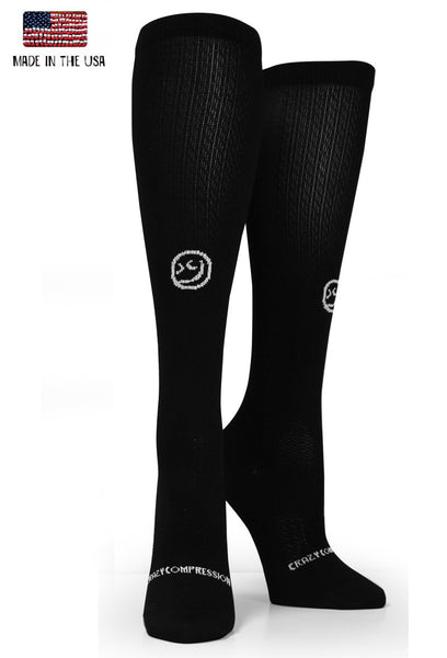 Black OTC Solid Compression Socks