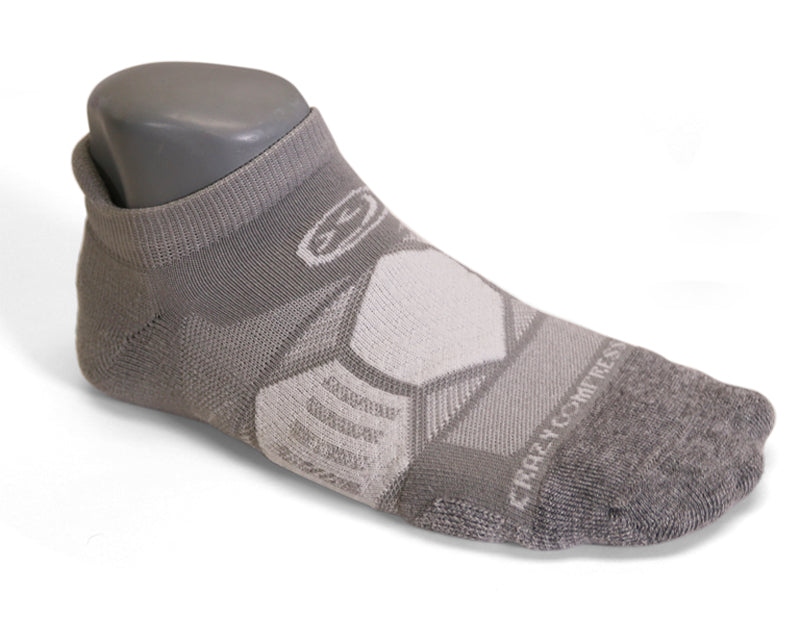 Cool Grey Runners - Elite Running Socks - CrazyCompression.com