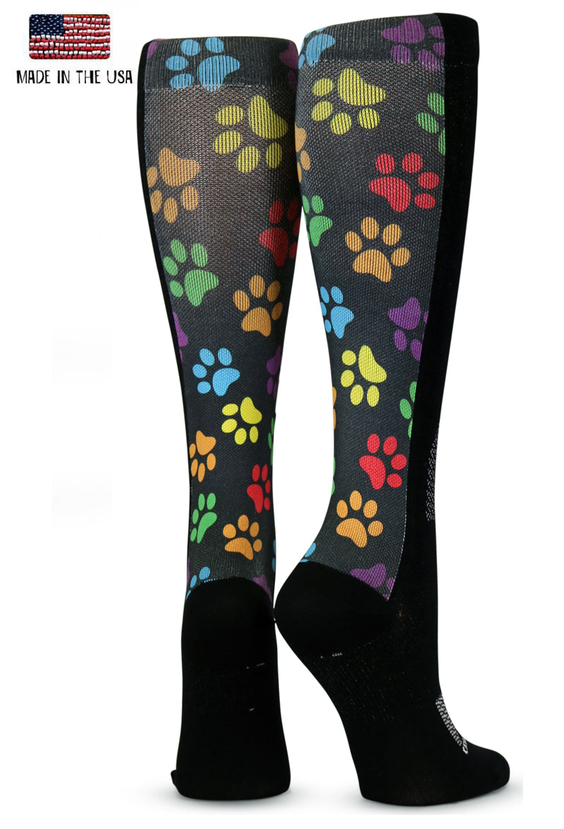 Colorful Paw Prints - CrazyCompression.com