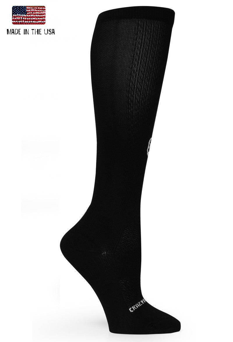 Black OTC Solid Compression Socks - CrazyCompression.com