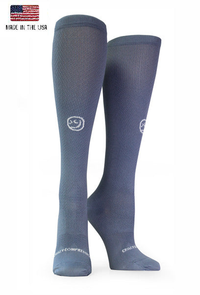 Gray OTC Solid Compression Socks - CrazyCompression.com