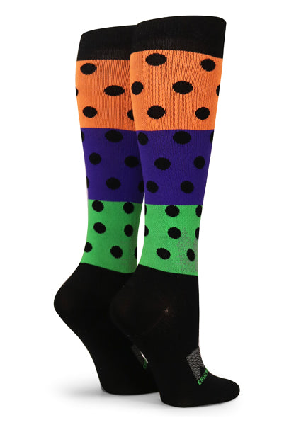 Black Halloween Dots - CrazyCompression.com