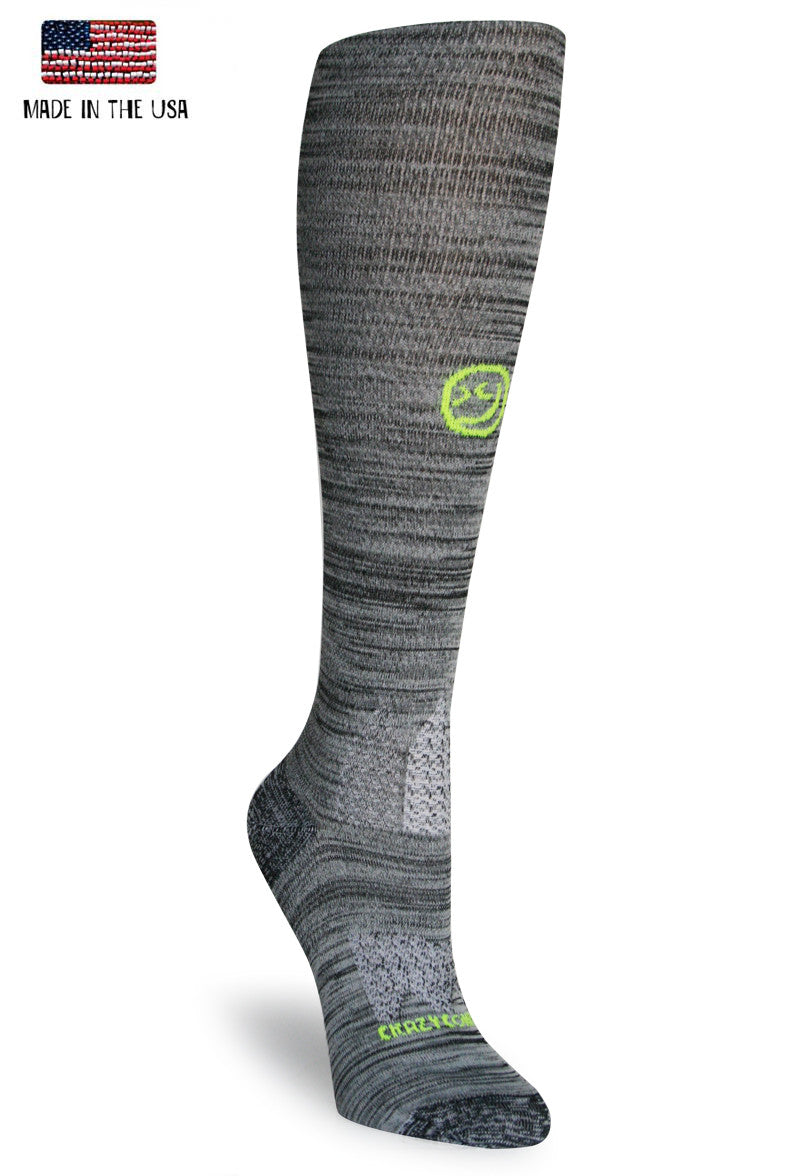 Black Twist OTC Compression Socks - CrazyCompression.com