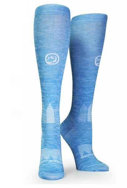 Blue Twist OTC Compression Socks - CrazyCompression.com