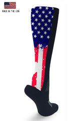 American Flag Compression Sock - Rear view