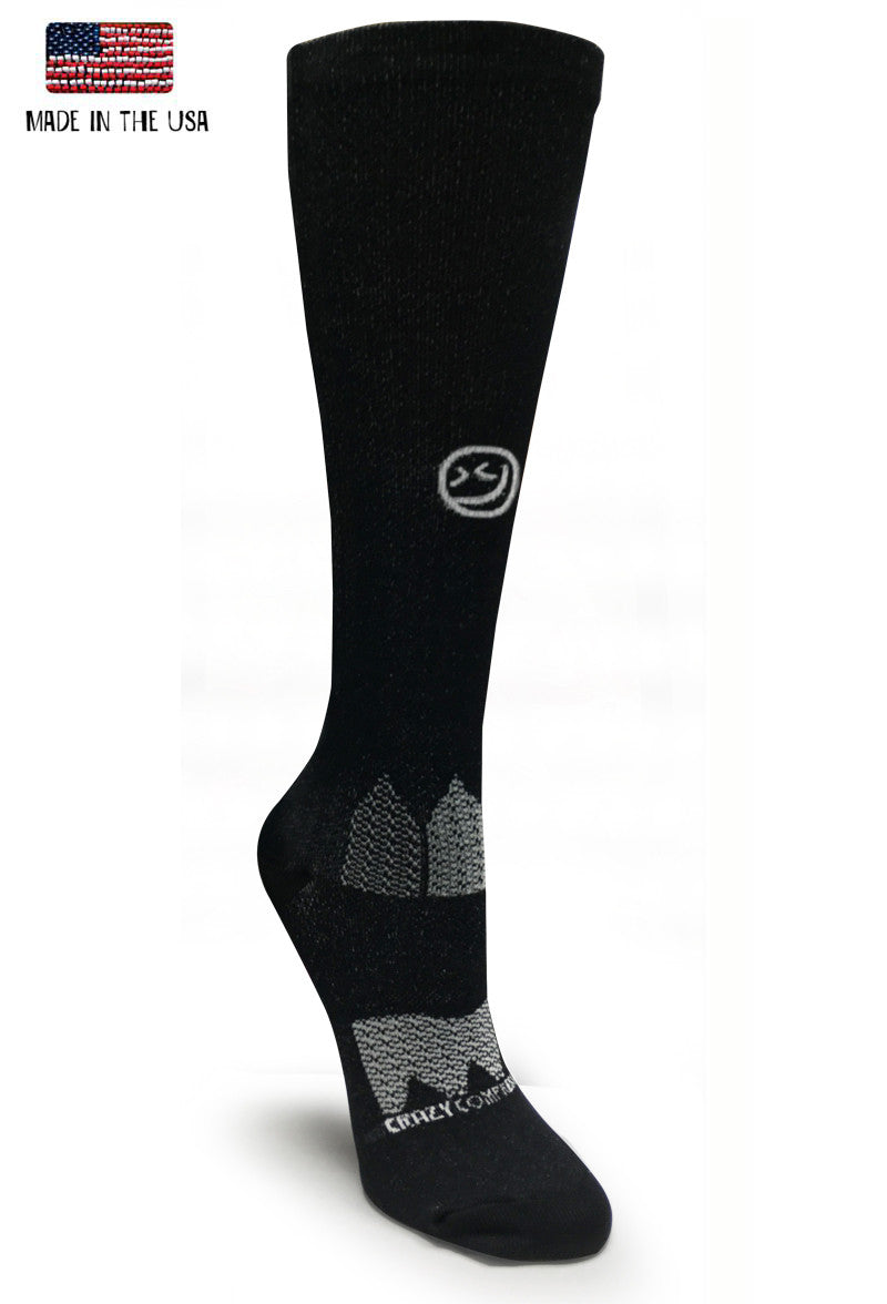 Black OTC America Flags Compression Socks - CrazyCompression.com