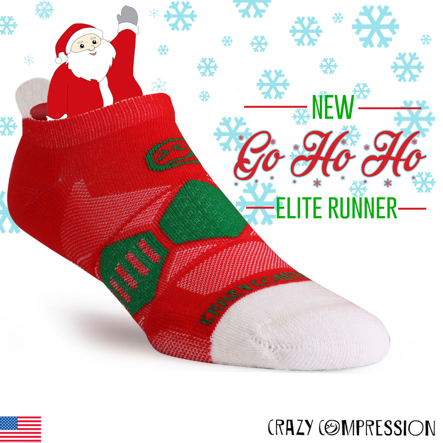 Go Ho Ho - Elite Running Socks - CrazyCompression.com