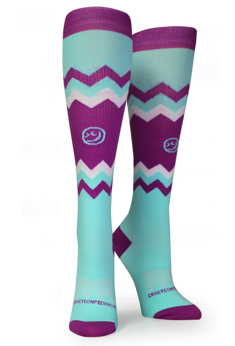 "CHEVRON ""MINT & BERRY"" - CrazyCompression.com"