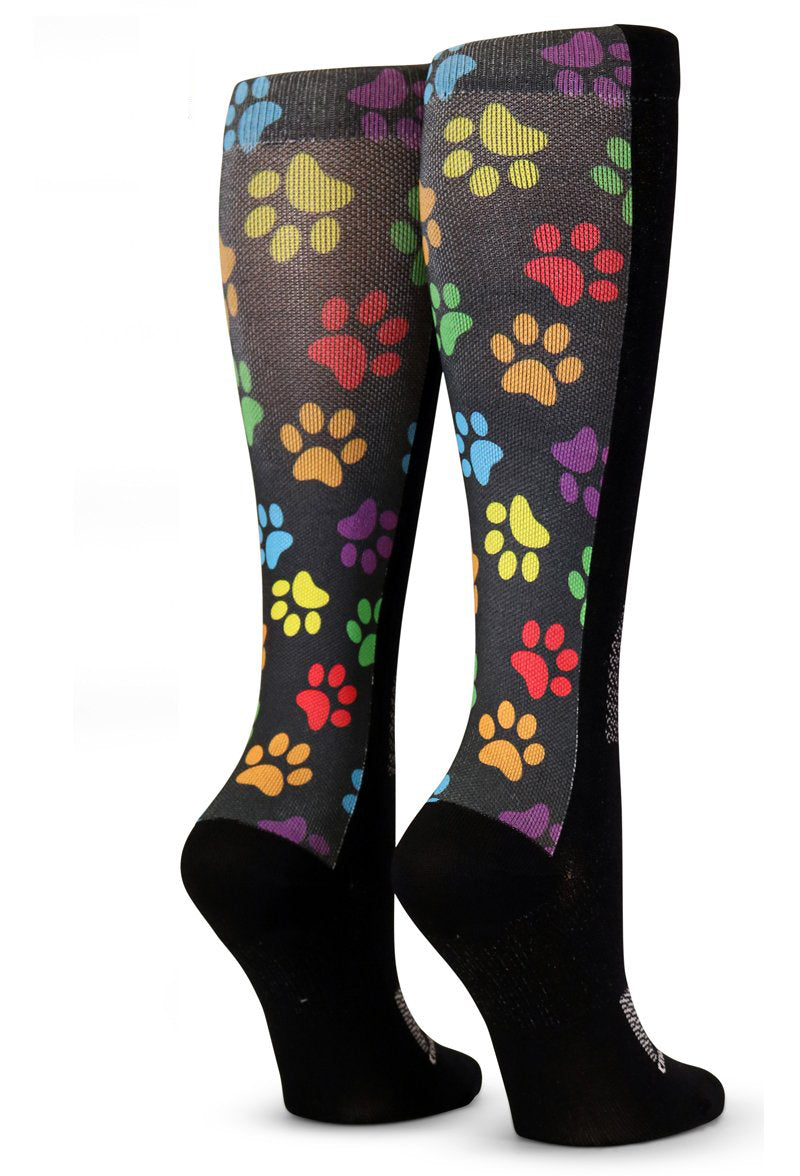 Black Colorful Paw Prints - CrazyCompression.com