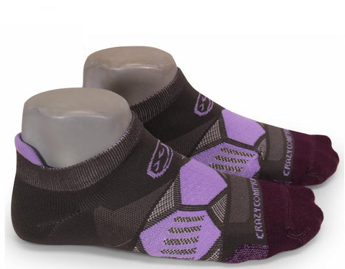 Gray & Lilac Elite Runners - CrazyCompression.com