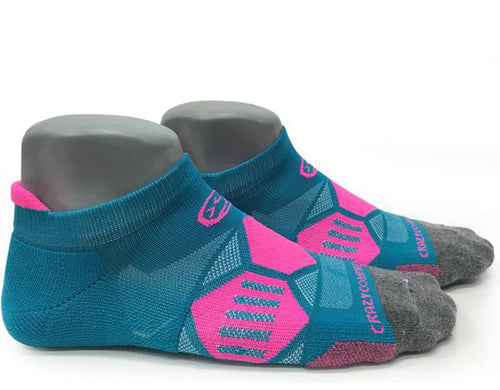 Hyper Teal & Pink Elite Runners - CrazyCompression.com