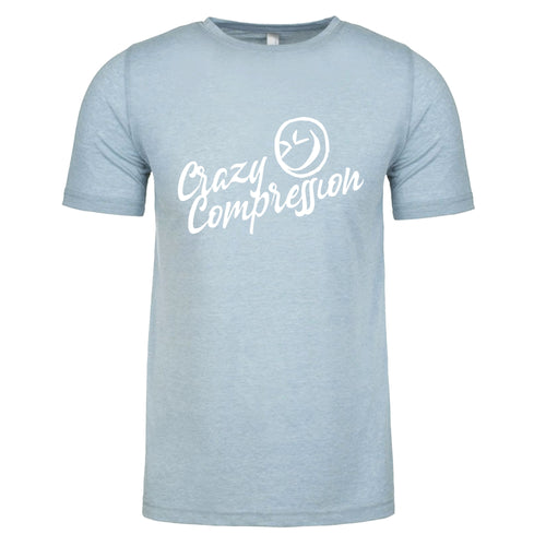 Light Blue Short Sleeve T-Shirt Poly/Cotton Crew