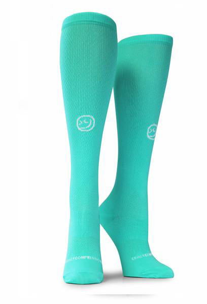 Mint OTC Solid - Compression Socks - CrazyCompression.com