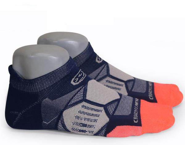 Navy & Coral Runners - Elite Compression Running Socks - CrazyCompression.com