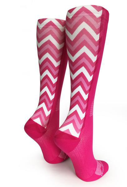 Pink OTC Chevron Love - CrazyCompression.com