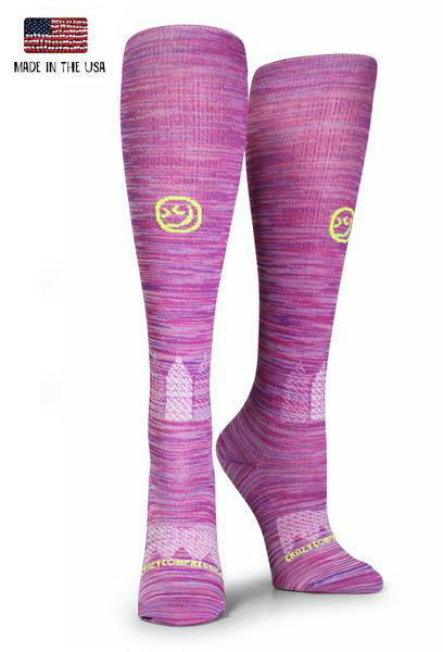 Pink & Purple Twist OTC - Compression Socks - CrazyCompression.com