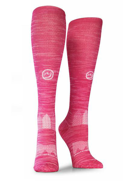 Pink Twist OTC Compression Socks - CrazyCompression.com