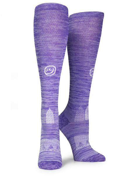 Purple Twist OTC Compression Socks - CrazyCompression.com