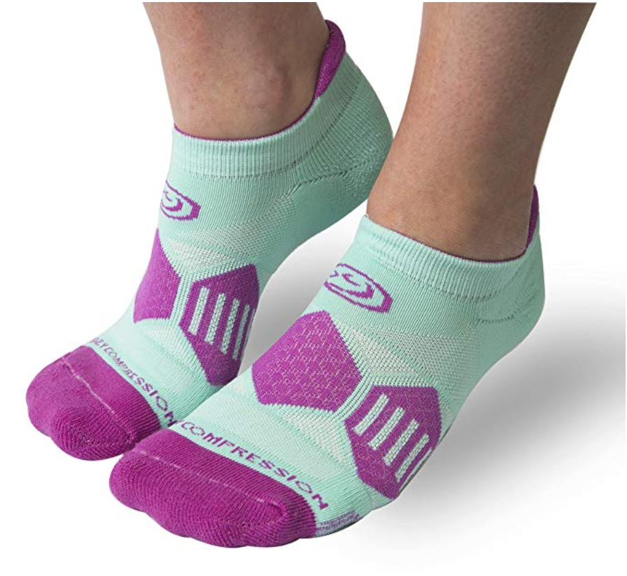 Mighty Mint & Berry Runners - Elite Compression Running Socks - CrazyCompression.com