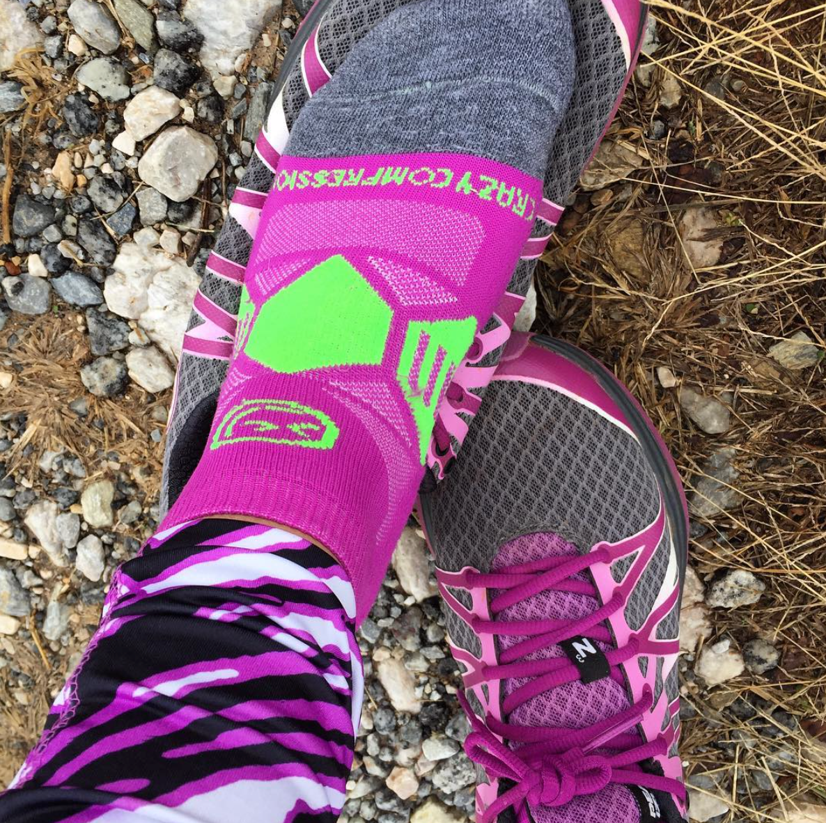 Berry & Lime Runners - Elite Running Socks - CrazyCompression.com