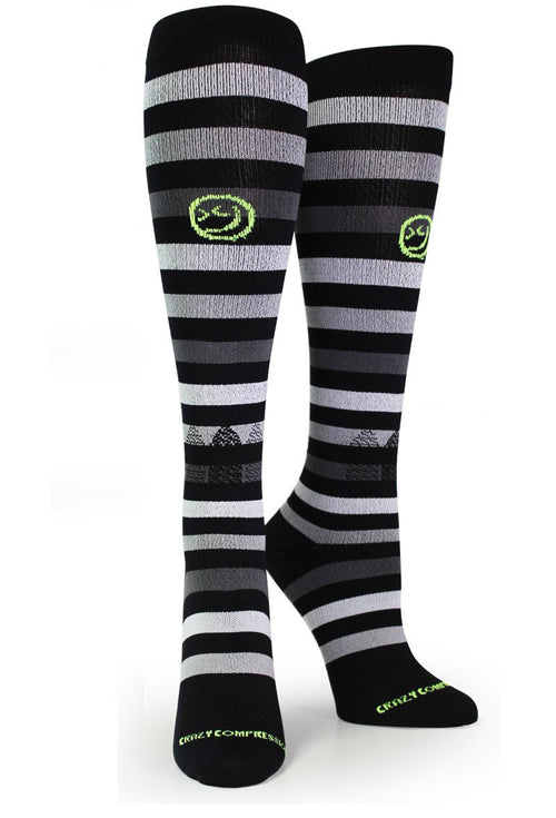 "All About Stripes ""Classic Black"" - CrazyCompression.com"