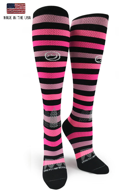 "All About Stripes ""Pink"" - CrazyCompression.com"