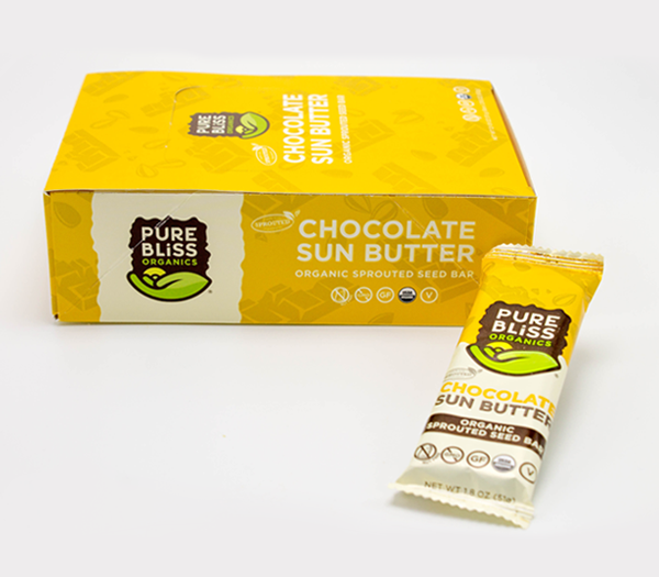 Organic Chocolate Sun Butter Sprouted Seed Bars