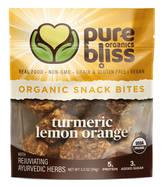 Organic Ayurvedic Herb Snack Bites - Turmeric Lemon Orange