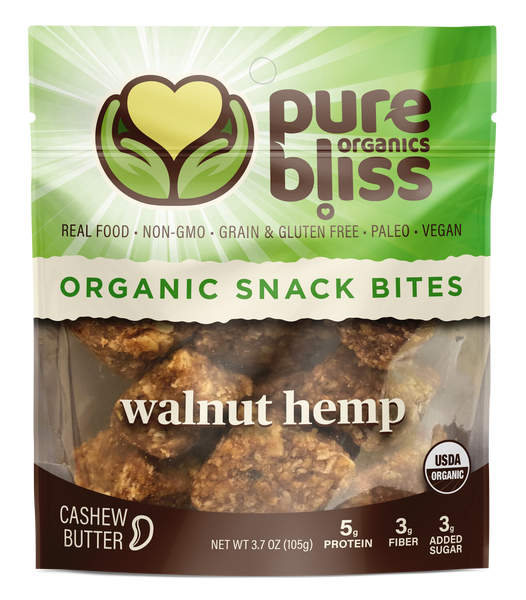 Organic Grain Free Snack Bites - Walnut Hemp