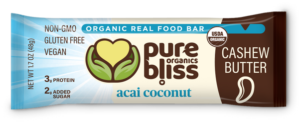Organic Acai Coconut Cashew Butter Bars (Case of 12)