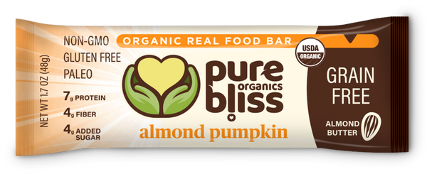 Organic Grain Free Bars - Almond Pumpkin (Case of 12)
