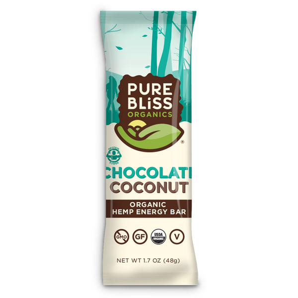 Organic Chocolate Coconut Hemp Energy Bars