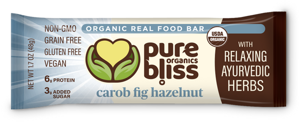 Organic Ayurvedic Herb Bars- Carob Fig Hazelnut  case/12