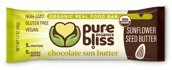 Organic Chocolate Sun Butter Bars (Case of 12)