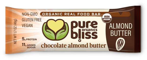 Organic Chocolate Almond Butter Bars (Case of 12)
