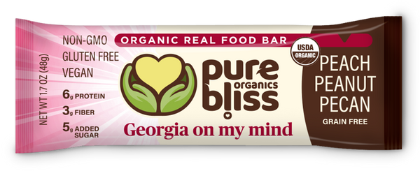 Organic Grain Free Bars - Georgia On My Mind (Peach, Peanut, & Pecan) (Case of 12)
