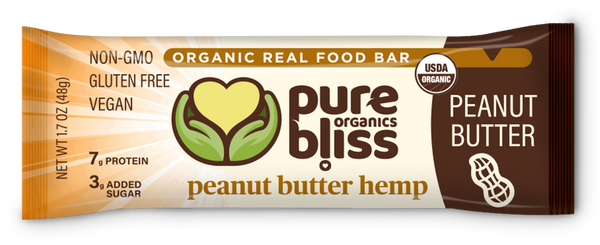 Organic Peanut Butter Hemp Bars case/12