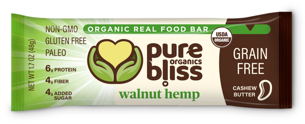 Organic Grain Free Bars - Walnut Hemp (Case of 12)