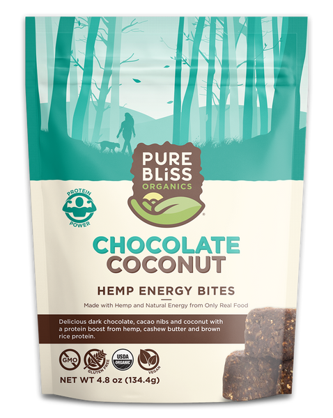 Organic Dark Chocolate Coconut Hemp Energy Bites