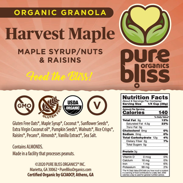 Organic Harvest Maple Granola