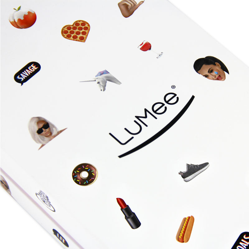 Hand made luxury gift box with removable lid, custom insert and color printing for Lumee