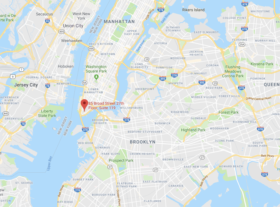 Madovar New York Office Map