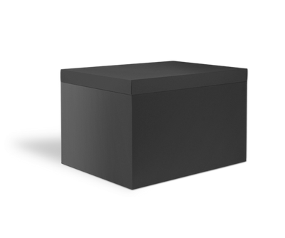 Black Storage Box with Lid - closed