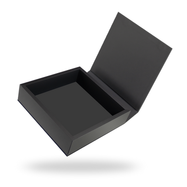 Square black magnetic closure box
