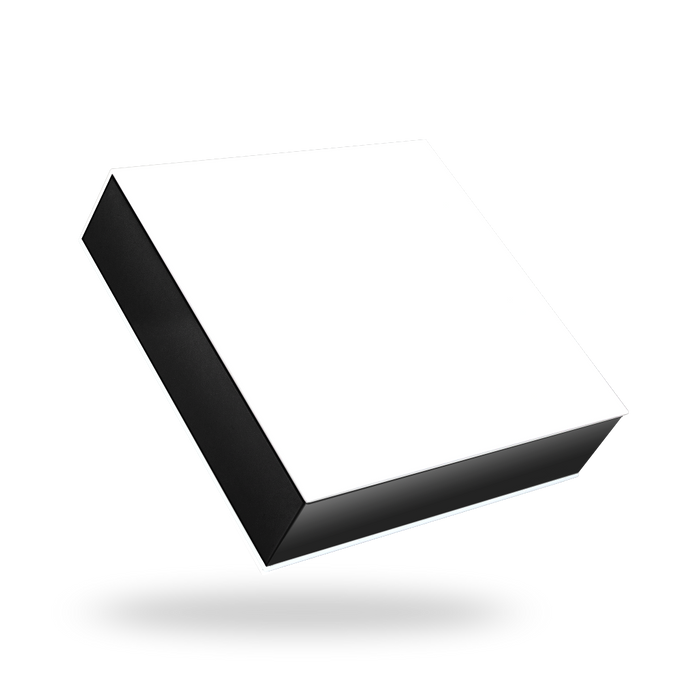 Square white magnetic closure box - Black tray