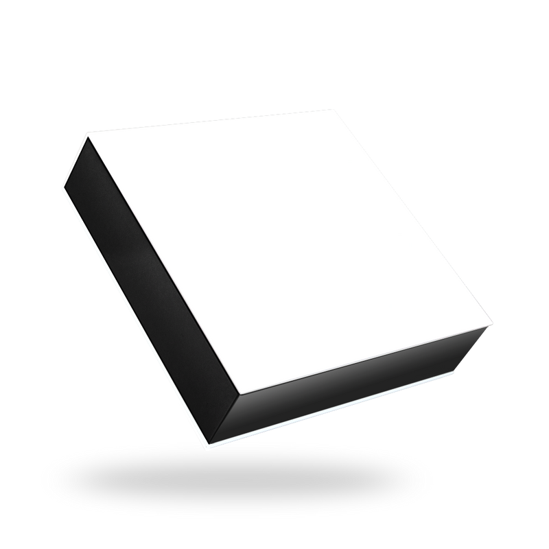 White outside, Black inside Square Magnetic Box